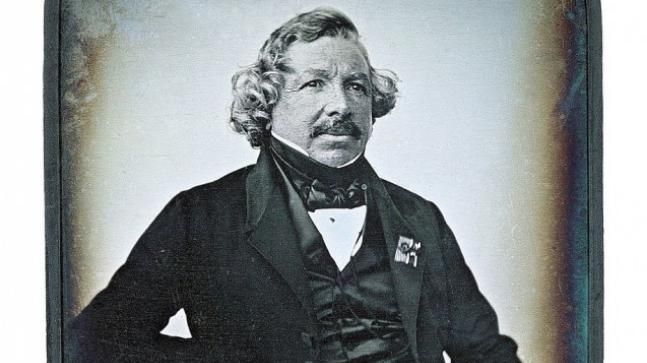 louis daguerre, invented the first camera